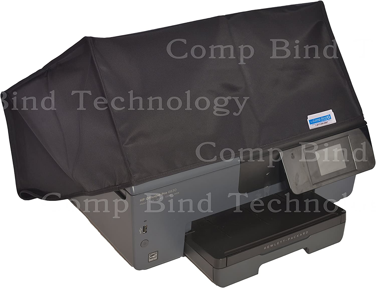 Comp Bind Technology Dust Cover for HP OfficeJet Pro 8710 Wireless Color Printer Black Nylon Anti-Static Dust Cover Dimensions 19.7W x 15.9D x 12.4H