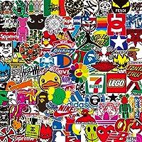 DONGJI Getij Merk Logo Merk Stickers Koffer Bagage Stickers Laptop Skateboard Stickers Waterdicht 100 Stks