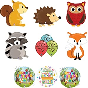 Mayflower Products Woodland Creatures Birthday Party Supplies Baby Shower Balloon Bouquet Decorations