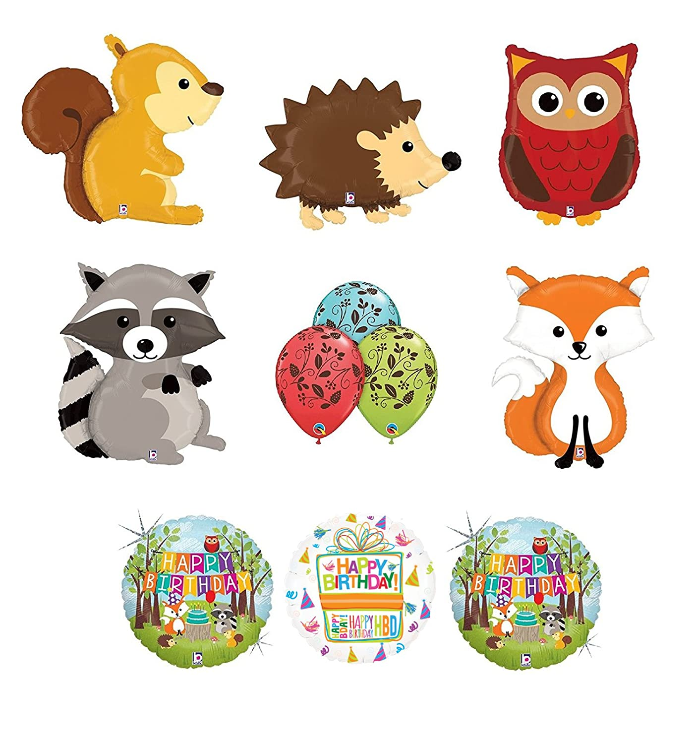 0f29b1d4837b0b Amazon.com  Mayflower Products Woodland Creatures Birthday Party Supplies  Baby Shower Balloon Bouquet Decorations  Toys   Games