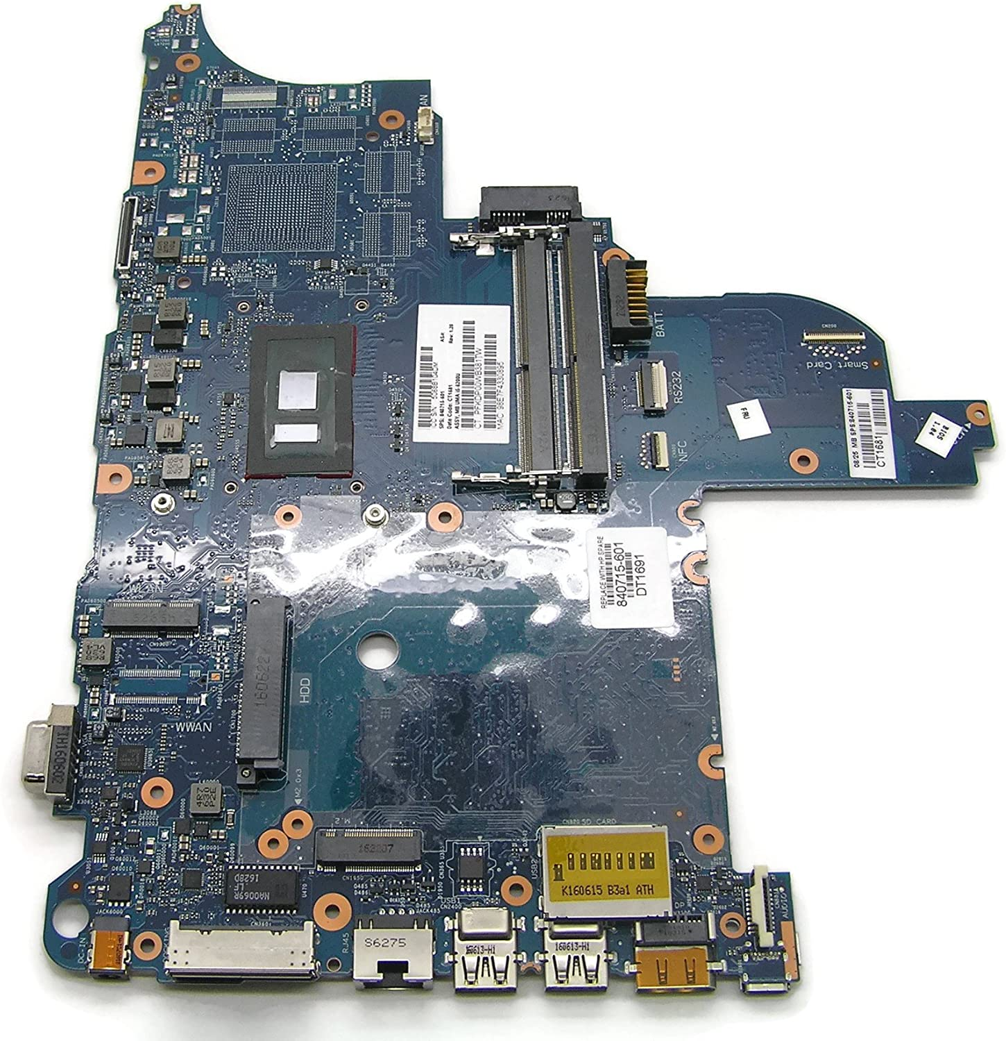 MB for HP ProBook 640 G2 Series Motherboard with UMA i5-6200U 840715-601