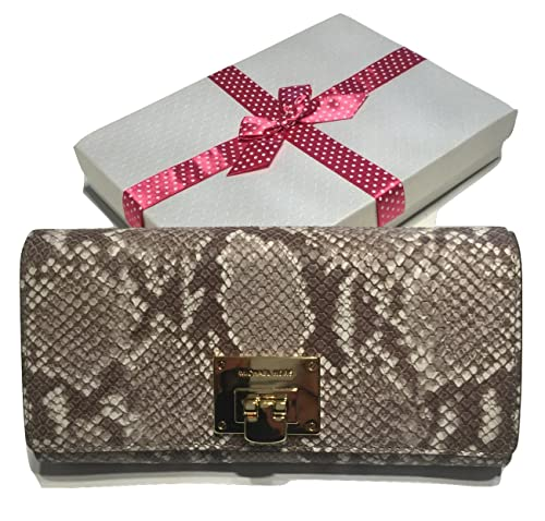 6e5cfe83e875 Michael Kors Astrid Carryall Clutch Wallet Dark Sand Python Embossed Leather:  Amazon.ca: Shoes & Handbags