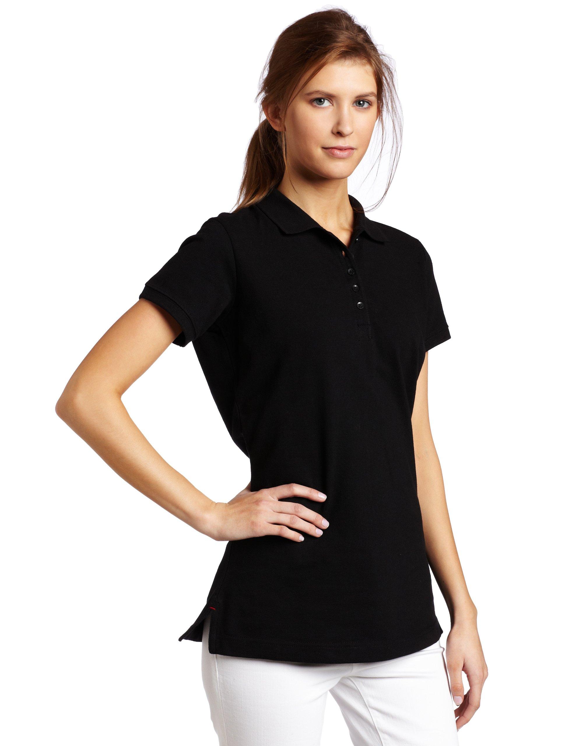 Dickies Women's Pique Polo Shirt, Black, Small