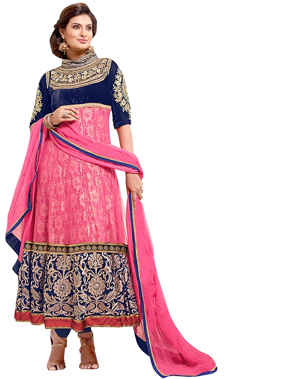 Vibes Unsitched Pure Georgette Dress Material V73-8002