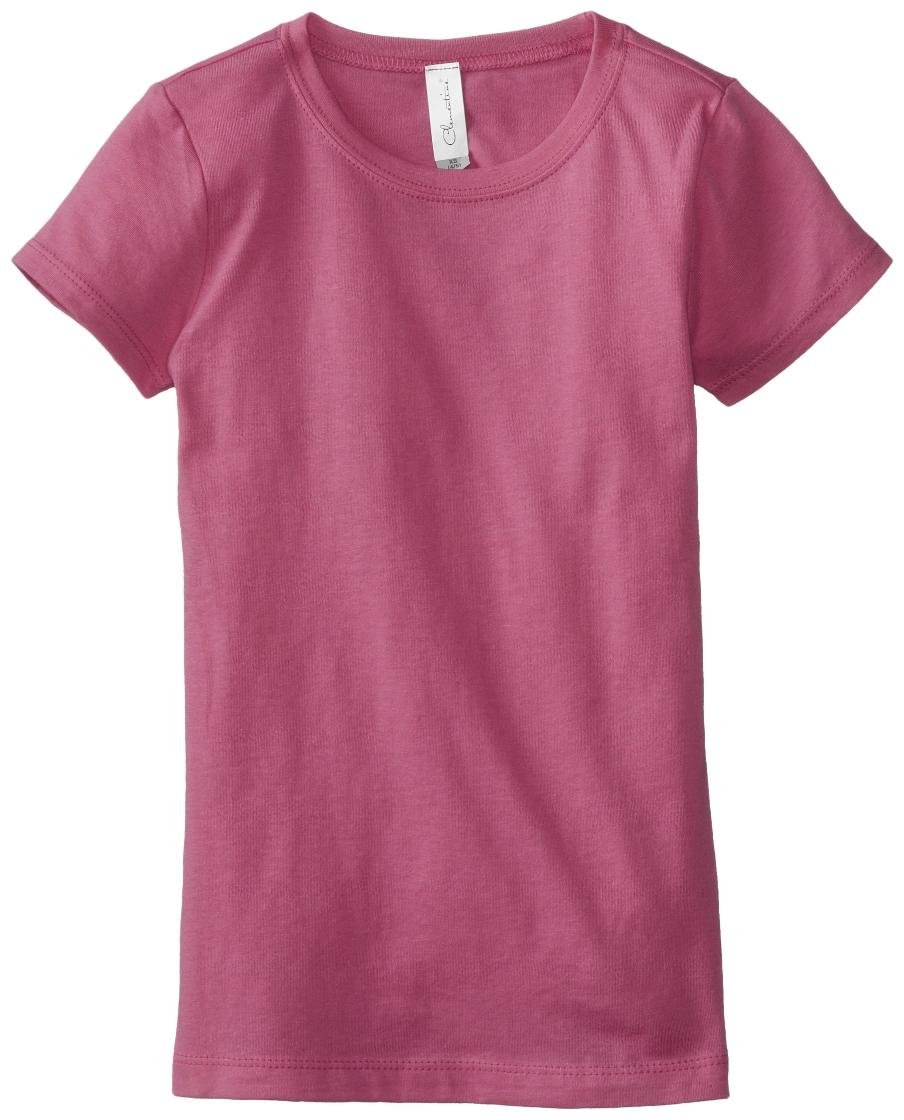 Clementine Big Girls' Everyday T-Shirt, Raspberry, Large(10-12)
