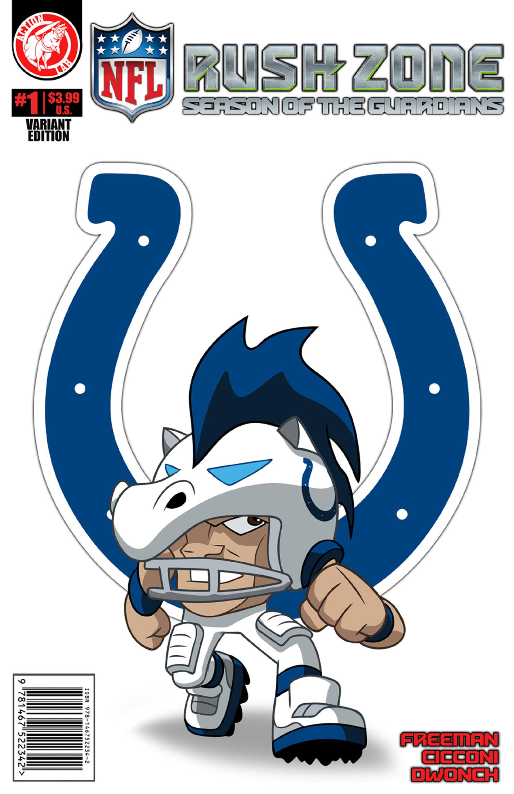 Nfl Rush Zone Season Of The Guardians 1 Indianapolis Colts Cover Freeman Kevin Goodwin M 9781939352101 Amazon Com Books