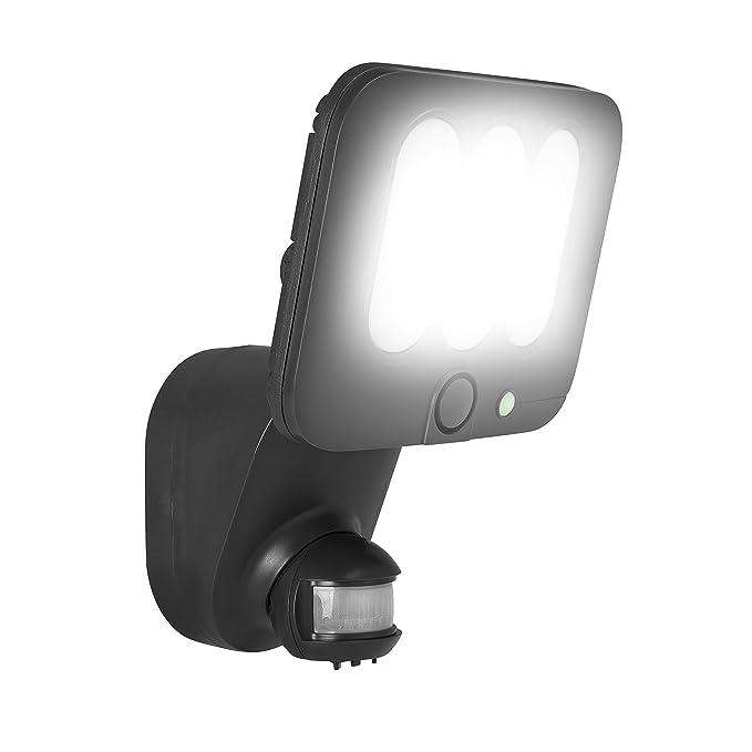Smartwares Foco LED con Función de Alarma y Sensor de Movimiento, 10 W, Gris: Amazon.es: Iluminación