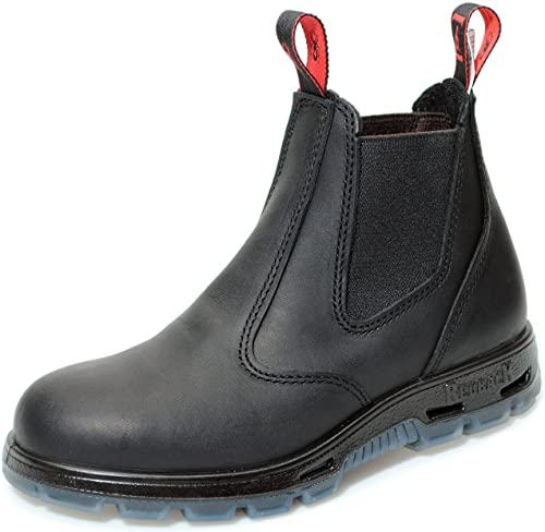 RedbacK Boots USBBK Easy Escape Steel Toe Black Leather Work Boots