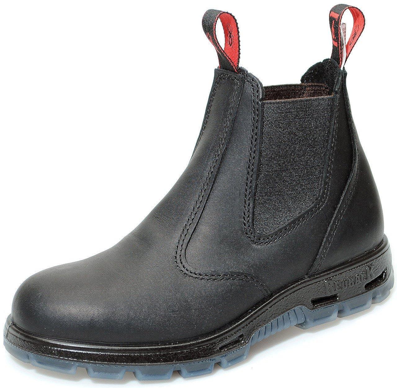 Redback USBBK Safety Work Boots aus Australien - mit Stahlkappe - Unisex | Black/Schwarz