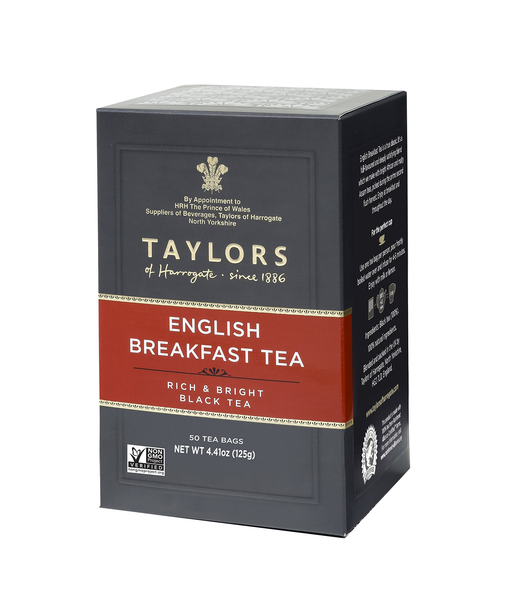Taylors of Harrogate English Breakfast, 50 Teabags (Pack of 6)
