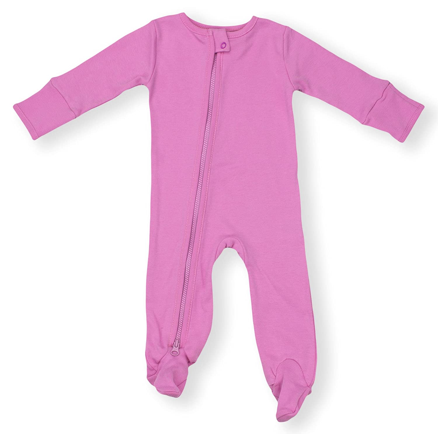 Earthy Organic Baby Sleeper 2-Way Zipper Pajamas Boy Girl (7 Sizes: NB-24M) 100% Organic Cotton