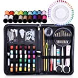 Sewing Kits for Adults, Tensun Small Sewing Kit for Beginners, Travel, Home, Office, Camping & Emergency, 115 Sewing Supplies Mending Kit Accessories with Notions Thread, Scissors & Needle