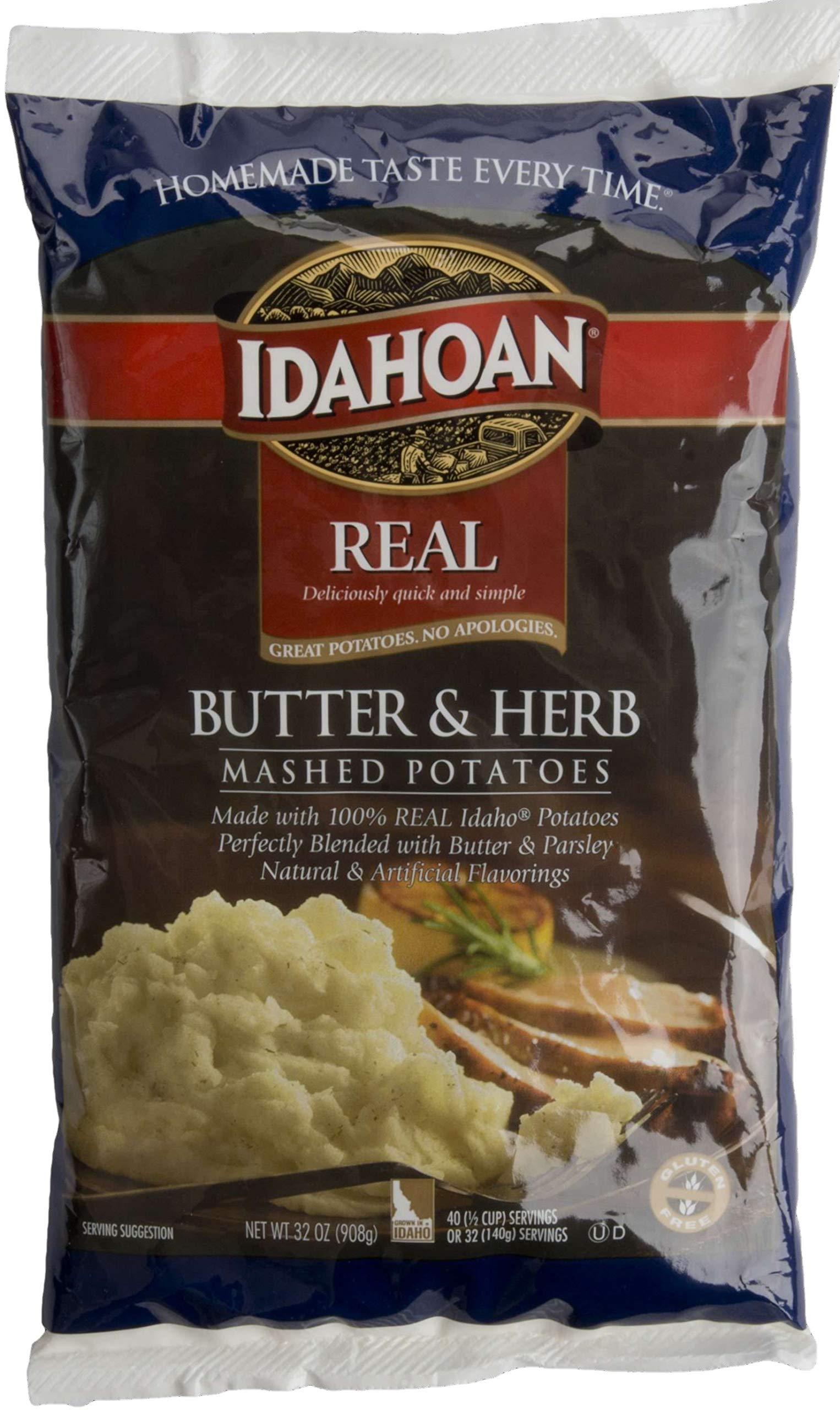 Idahoan Real Butter and Herb Mash Potatoes, 32 Ounce -- 8 per case. by Idahoan