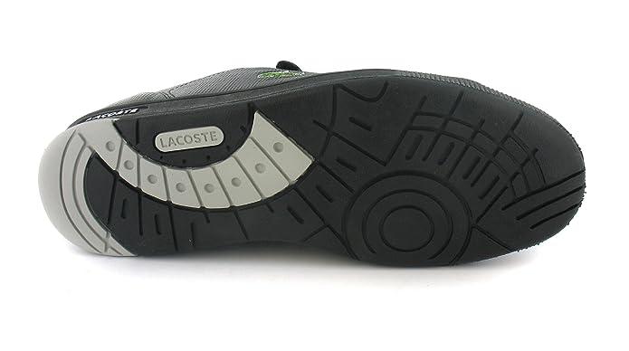 4680701be4ff9 Mens Black Lacoste Velcro Retro Trainers - Black Grey Violet - UK SIZE 12   Amazon.co.uk  Shoes   Bags