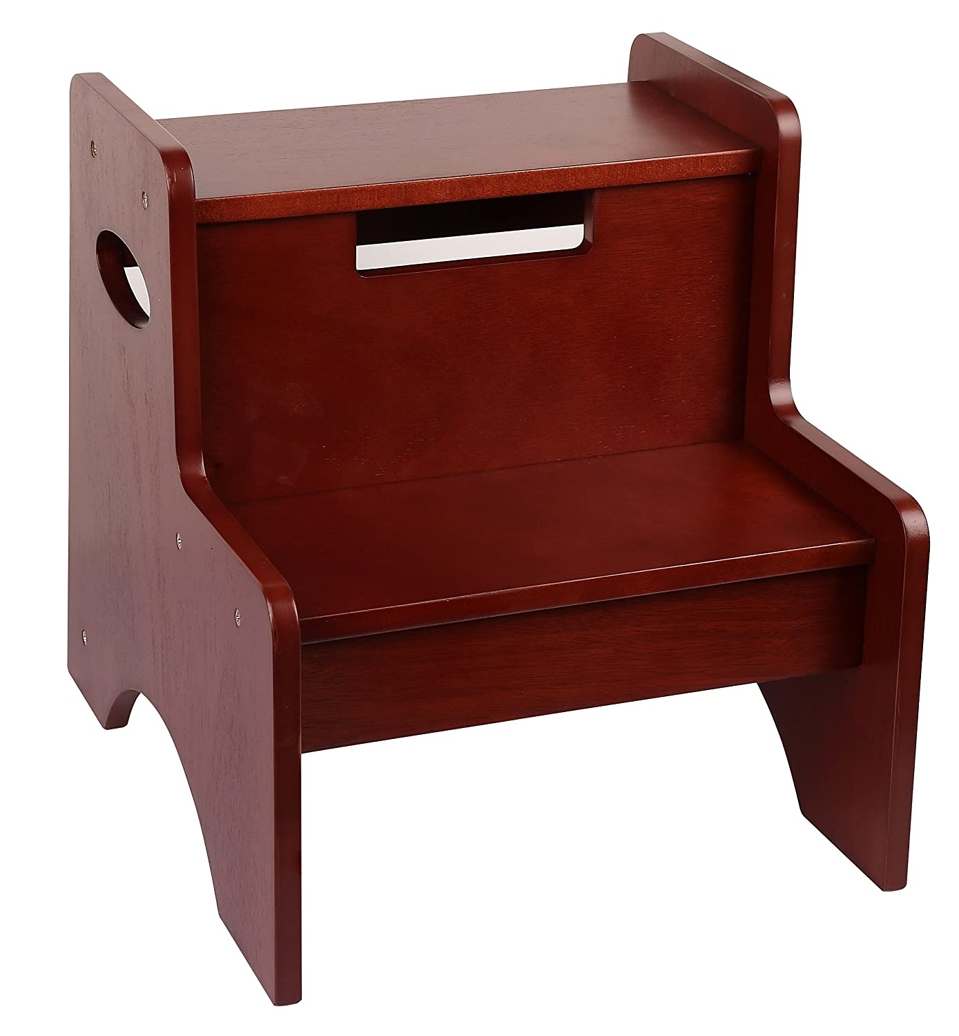 レベルの検出Oak Finish Two Step Stool TSS00152 B01C05IC98  チェリー