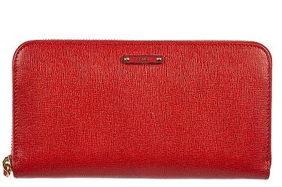 a48bb95c30ae Fendi portefeuille porte-monnaie femme en cuir deux plis elite rouge ...
