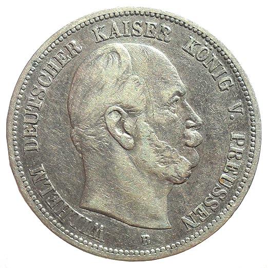 Deutsches Reich Kaiserreich Silber Münze 5 Mark 1875 B Preußen