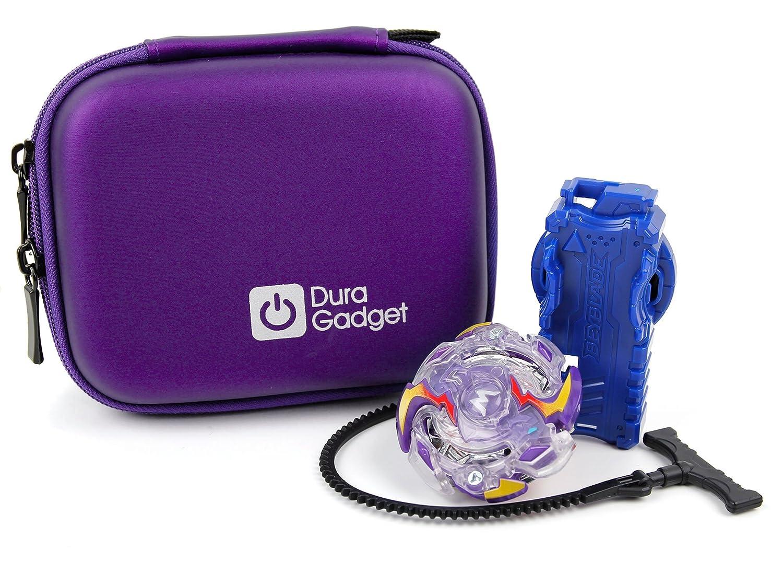 DURAGADGET Custodia Rigida Blu Per Beyblade Burst e accessori - Con Elastici - Ideale Per I Viaggi - Alta Qualità