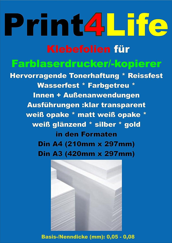 P4L - 10 hojas DIN A4 outdoor Laser fotocopiadora Your Design ...