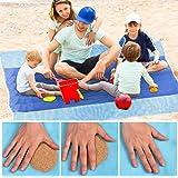 "EcoEarth beach blanket (Premium Tier) (Blue 1 Pack: 57""x79""), beach mat, sand free beach blanket, beach blanket sand proof, sand free beach mat, sand free mat, beach mat sand free, sandless beach mat"