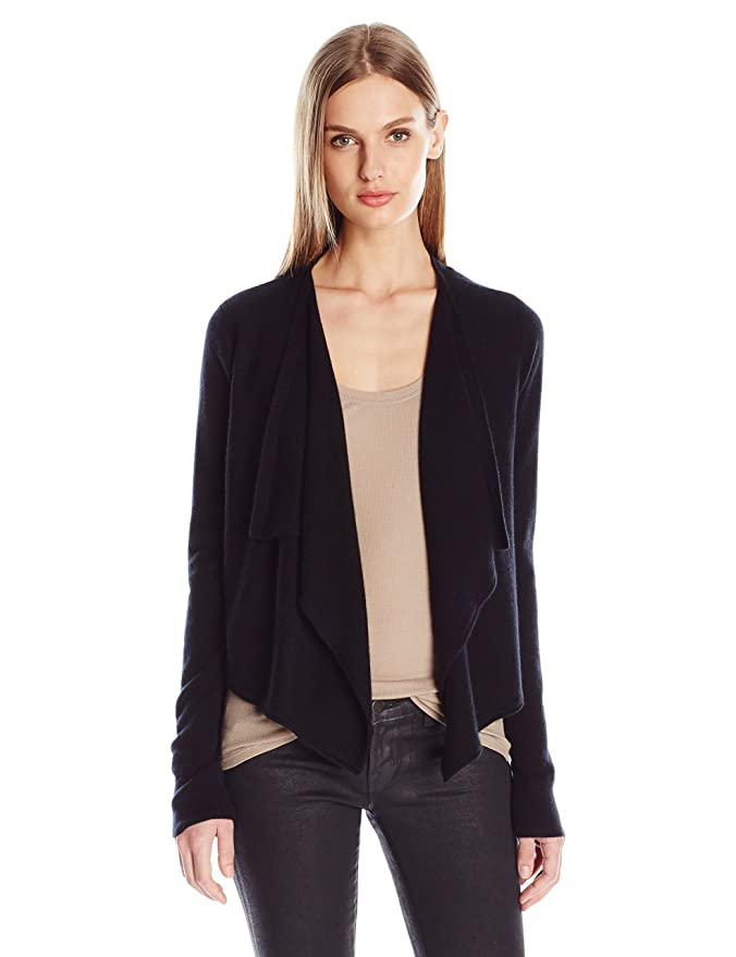light sweater cardigan lyst normal front cashmere aqua drapes gray drape grey product in clothing gallery