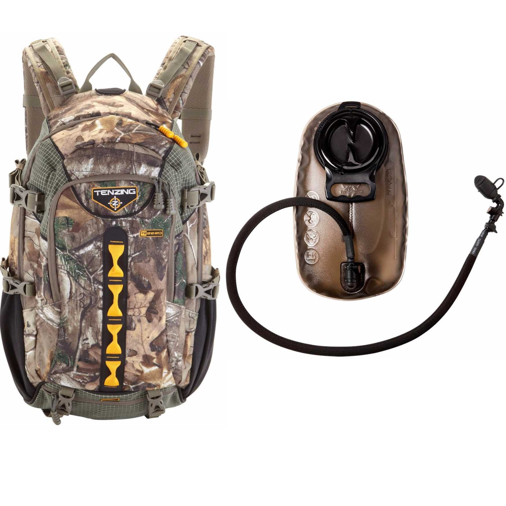Tenzing TZ 2220 Game Hunting Day Pack Backpack (Realtree Max Xtra Camo) with 2.0L Hydration Reservoir