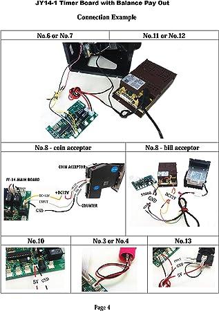 JY Electronic JY-141 con Monedero de Control de Tiempo de Cambio ...