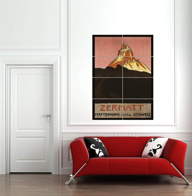 Doppelganger33 Ltd Travel Matterhorn Mountain Zermatt Switzerland Alpine Snow Arte de la Pared Multi Panel de Carteles 33x47 Pulgadas: Amazon.es: Hogar