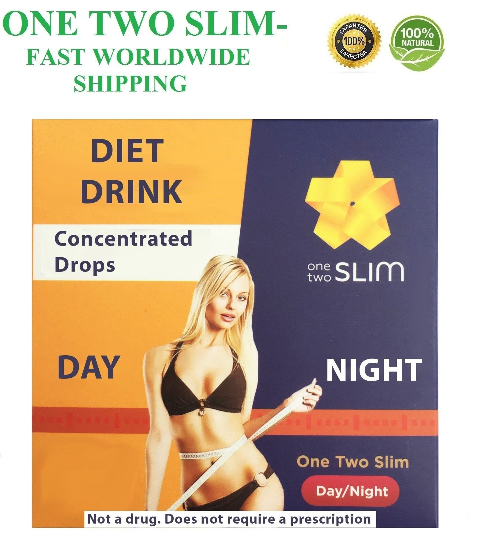 ONE TWO SLIM | ONETWOSLIM | 100% Diet Drink Weight Loss Fat Burner Diet Drops (10)