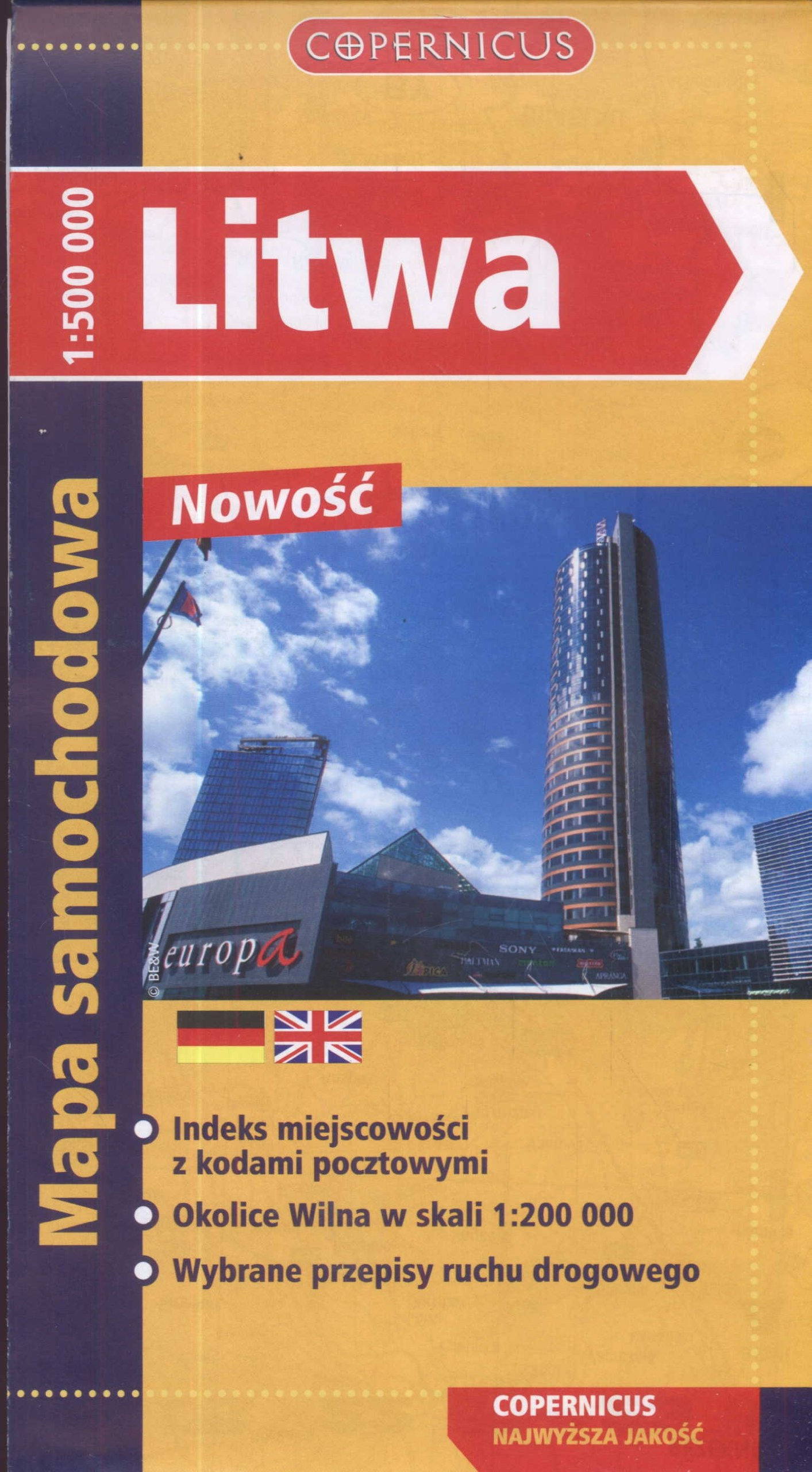 Litwa Mapa Samochodowa Amazon Co Uk 9788375392487 Books