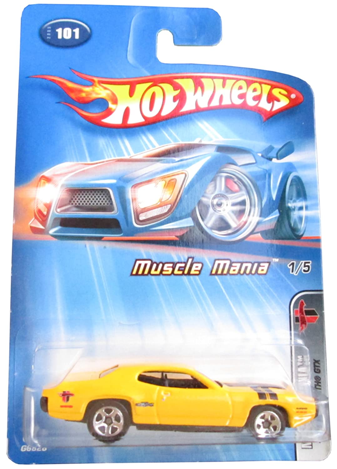 Hot Wheels 2005-101 1971 Plymouth Gtx 1/5 Muscle Mania 1:64 Scale by Hot Wheels Mattel