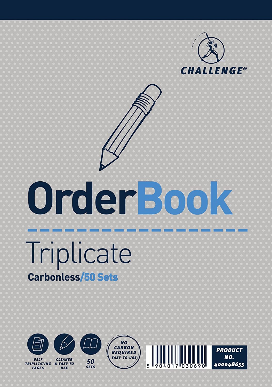 Challenge - Blocco con carta copiativa (3 copie) per vendite e ordini, 5 pezzi Hamelin Brands 400048655