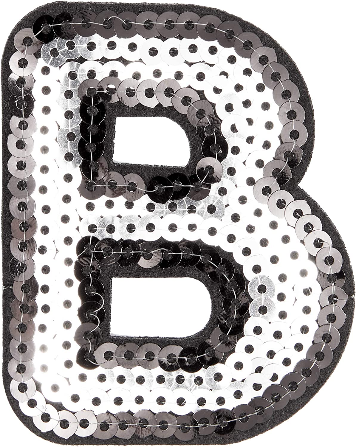 27 Piece Bright Creations Iron On Alphabet Sequin Letter Patches A Z and Heart