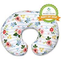 Amazon Price History for:Boppy Original Nursing Pillow and Positioner, Blue Pink Posy, Cotton Blend Fabric with allover fashion