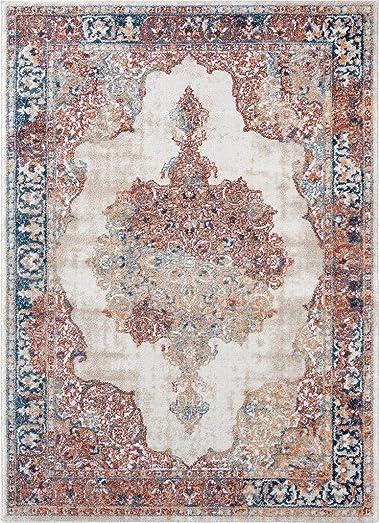 Luxe Weavers Ivory Oriental 8×10 Area Rug 7158