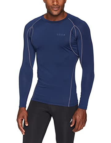 31dd0edea9a93 TSLA Men s Long Sleeve T-Shirt Baselayer Cool Dry Compression Top