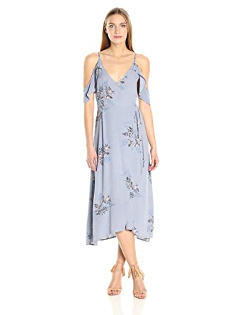 9eb748c1d81e ASTR the label Women's Gwyn Floral Print Cold Shoulder Midi Dress:  Amazon.in: Clothing & Accessories