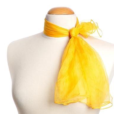 4ee47eb9eabe Allée du foulard Damen Halstuch Orange orange safran  Amazon.de ...