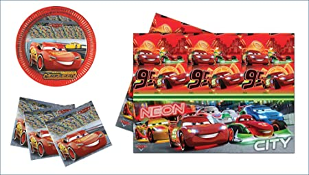 Disney Cars Niños Fiesta/Cumpleaños/Fiesta temática Set ...