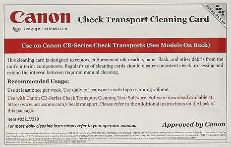 Amazon.com: Tarjetas de limpieza para Canon CR-Series Check ...