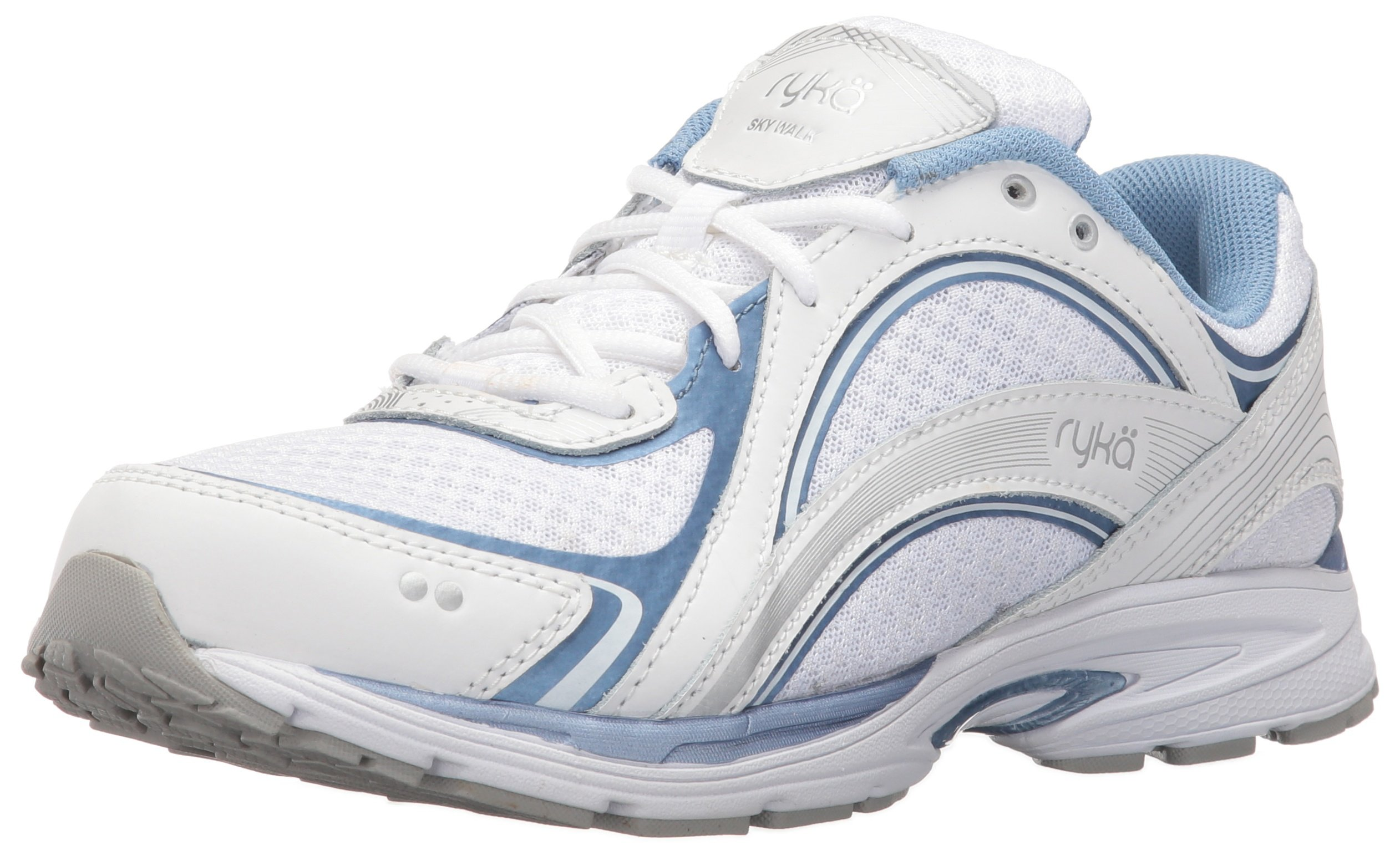 Ryka Women's Sky Walking Shoe, White/Blue, 8 W US