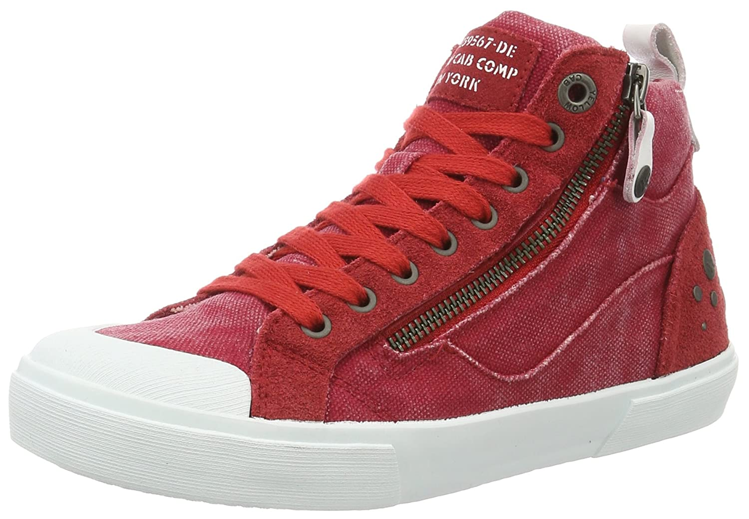 low priced da8c9 9d4bf Amazon.com | Yellow Cab Women Y25160 Hi-Top Trainers Red ...