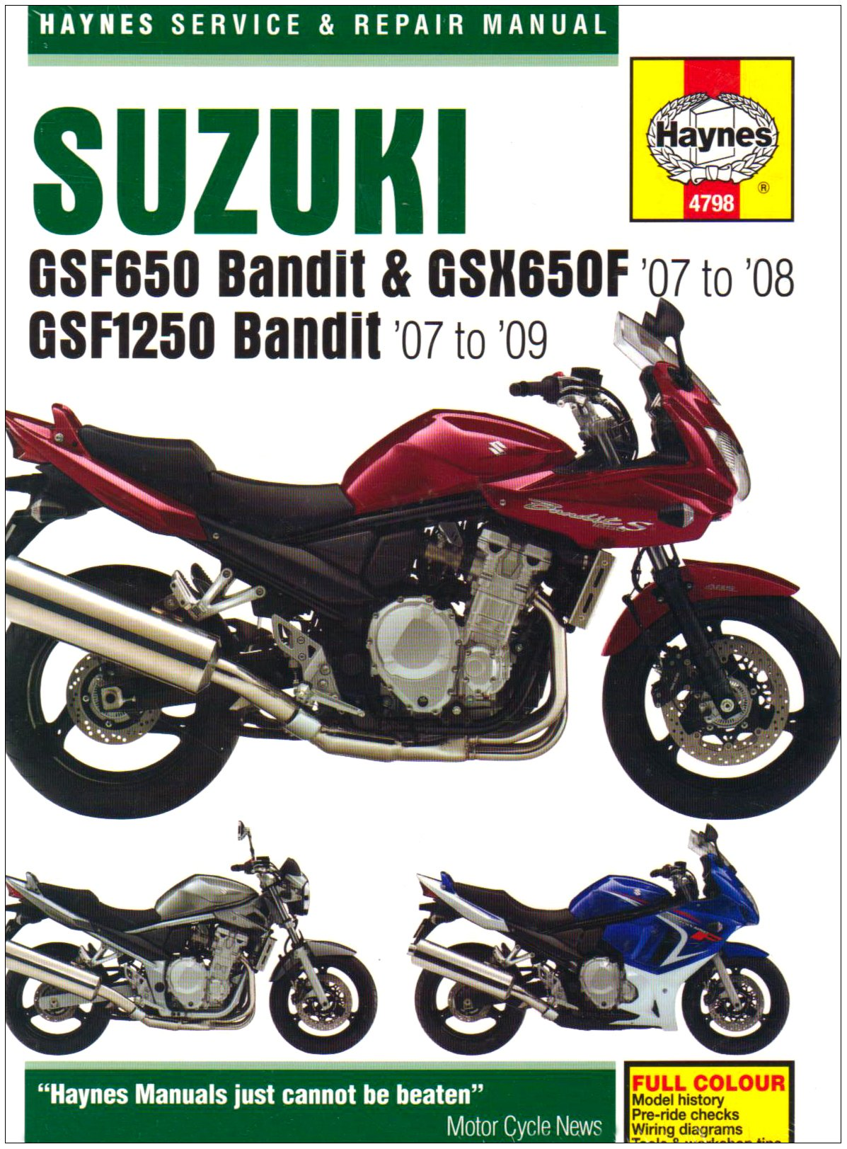 Suzuki Gsf650 1250 Bandit And Gsx650fservice Repair Manual 2007 2003 Gsxr 600 Wiring Diagram To 2009 Haynes Service Manuals Phil Mather 9781844257980