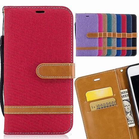 LEMORRY para iPhone X Funda Estuches Cuero Cover Billetera ...