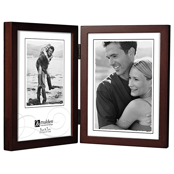 5x7 Double Vertical Walnut Concepts Photo Frame