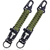 Steven G Paracord Carabiner Survival Keychain Firestarter Whistle For Hiking, Camping, Hunting, Fishing, Boy Scouts, Outdoor Emergency Best Quality