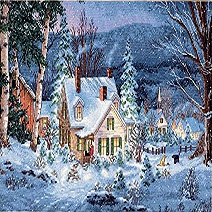 Counted Cross Stitch Kit WINTER/'S HUSH  Dimensions Gold Collection
