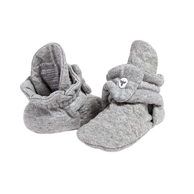 Burt's Bees Baby Unisex Baby Booties, Boys Girls Quilted Booties, 100% Organic Cotton by Burt's Bees+Baby