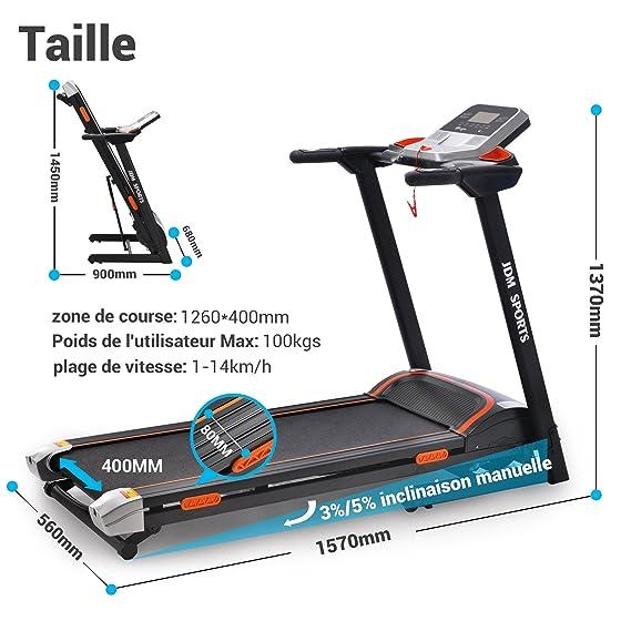JDM Sports J15 - Máquina de correr, ordenador BMI, plegado ...