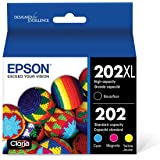 Epson T202XL-BCS Claria Ink Cartridge Multi-Pack - High-Capacity Black and Standard-Capacity Color (CMYK)